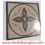 "FLORENCE, 36"" Square Stone Floor Inlay"
